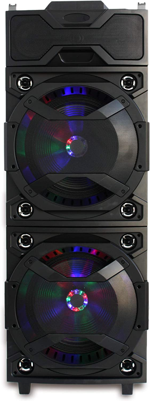 APPROXAltavoz Portable Doble Bluetooth 4.2 Monster MPPRODJ 500W BATERIA 8H Tabla DE Mezclas DJ Mixer