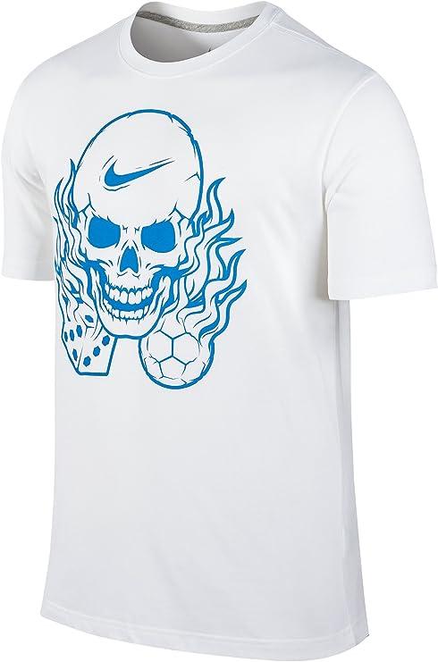 Nike Manifesto - Camiseta de algodón para Hombre, diseño de Calavera, S, Blanco: Amazon.es: Deportes y aire libre