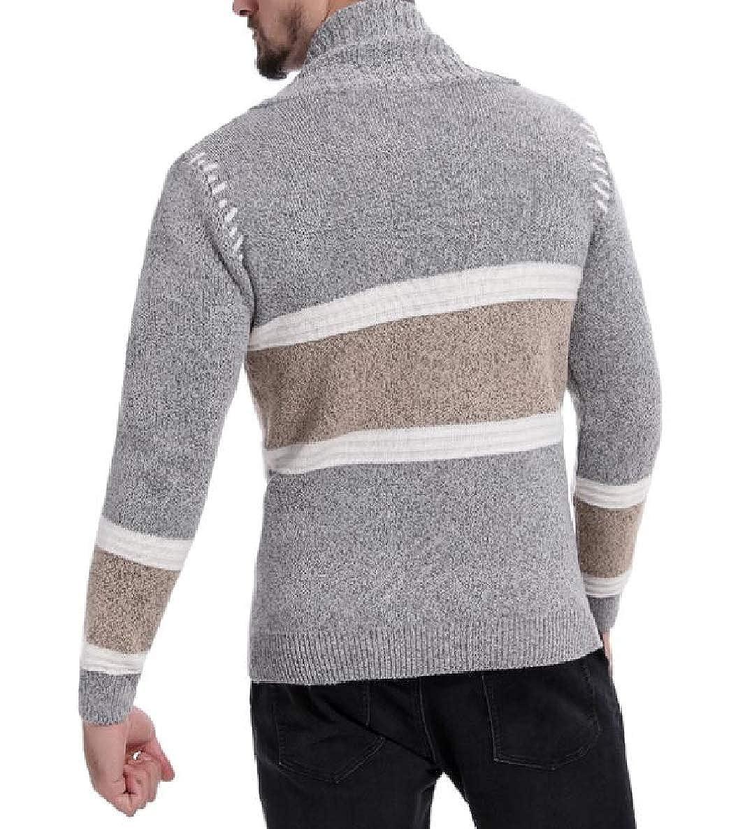 Winwinus Men Assorted Colors V Neck Autumn Winter Cardigan Knit Long-Sleeve Sweaters