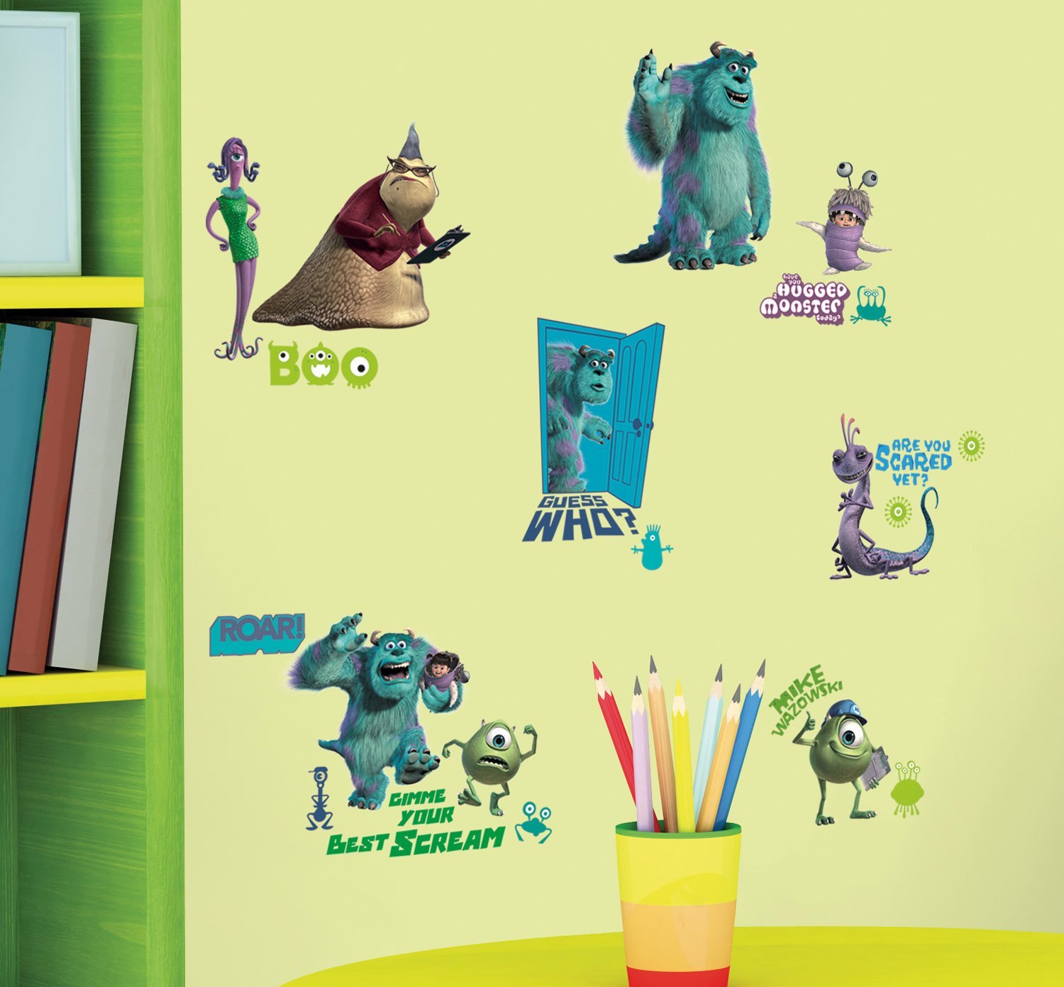 Amazon disneys monsters inc wall decals 18x40 home amazon disneys monsters inc wall decals 18x40 home kitchen amipublicfo Choice Image