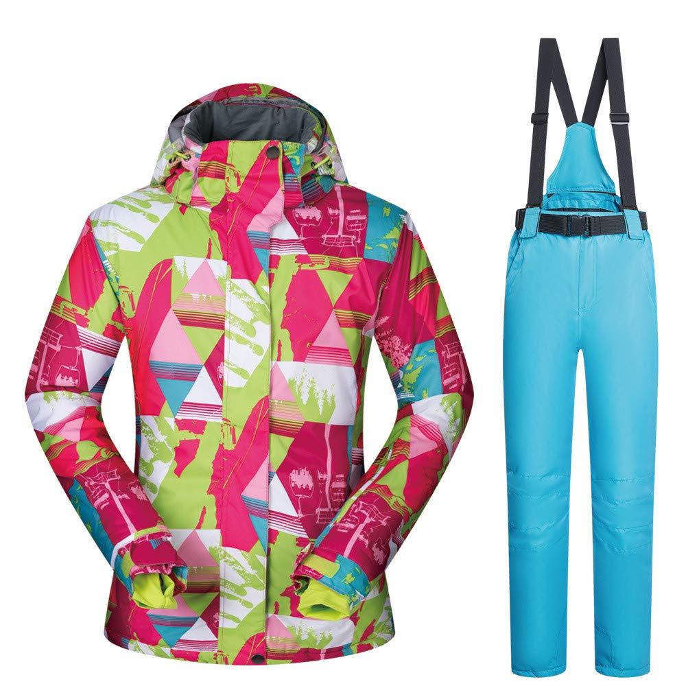 Zgsjbmh Giacca da Snowboard Tuta da da da Sci Inverno Caldo Outdoor impiallacciatura impiallacciatura Doppio Vestito da Sci Tuta da Donna Tuta da Sci (Coloreee   Light blu Pants (arancia), Dimensione   XL)B07L4N98ZZXL Light blu pants | Nuovo design diverso  |  753e2f