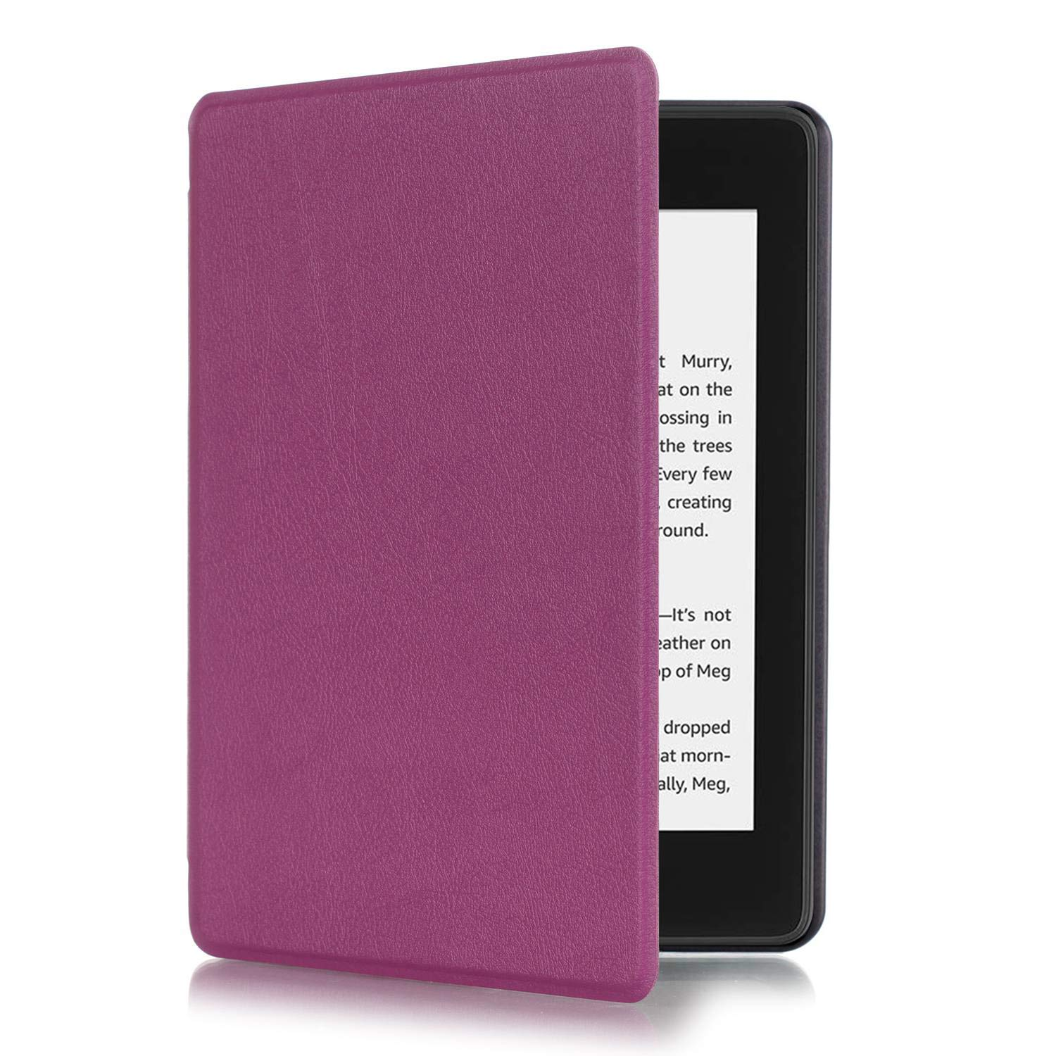XIHAMA Case for Kindle Paperwhite 10th Generation, 2018 Release Purple ,Lightweight PU Leather Smart Shell Cover with Auto Wake/Sleep for  Kindle Paperwhite E-Reader
