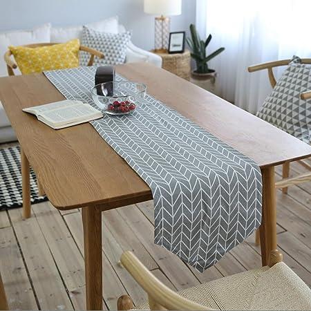 Tapetes para la mesa camino de mesa lino y algodón grueso ...