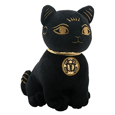 SUMMIT COLLECTION Black and Gold Ancient Egyptian Bastet Cat Kitty Small Plush Doll: Home & Kitchen