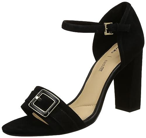487ef84efee05b Clarks Women s Curtain Shine Black SDE Leather Pumps-4 UK India (37 EU