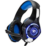 Beexcellent Gaming Headset for PS4 Xbox One PC Mac Controller Gaming Headphone with Crystal Stereo Bass Surround Sound…