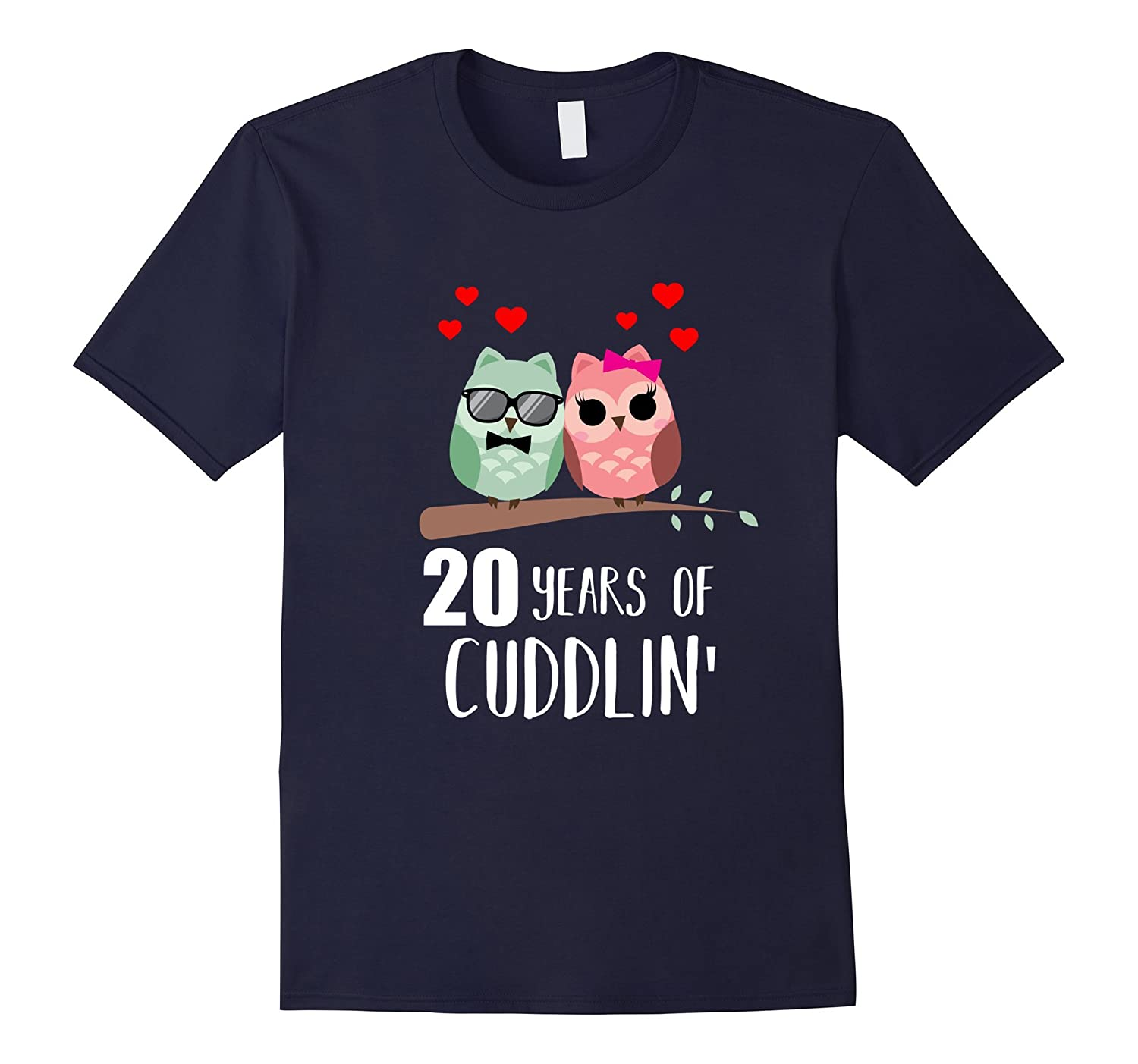20th Wedding Anniversary Shirt Gift Funny Owl Couple T-shirt-CD