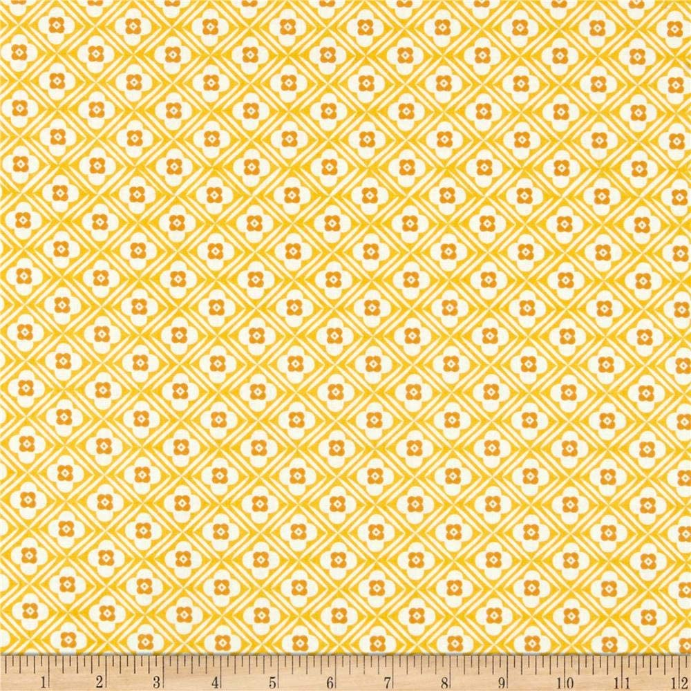 Riley Blake Granny Chic Hugs Yellow Quilt Fabric By The Yard