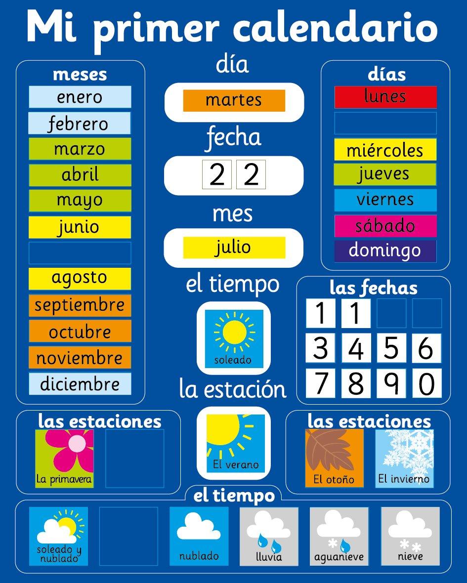 calendarios para niños magnetico a la libreta