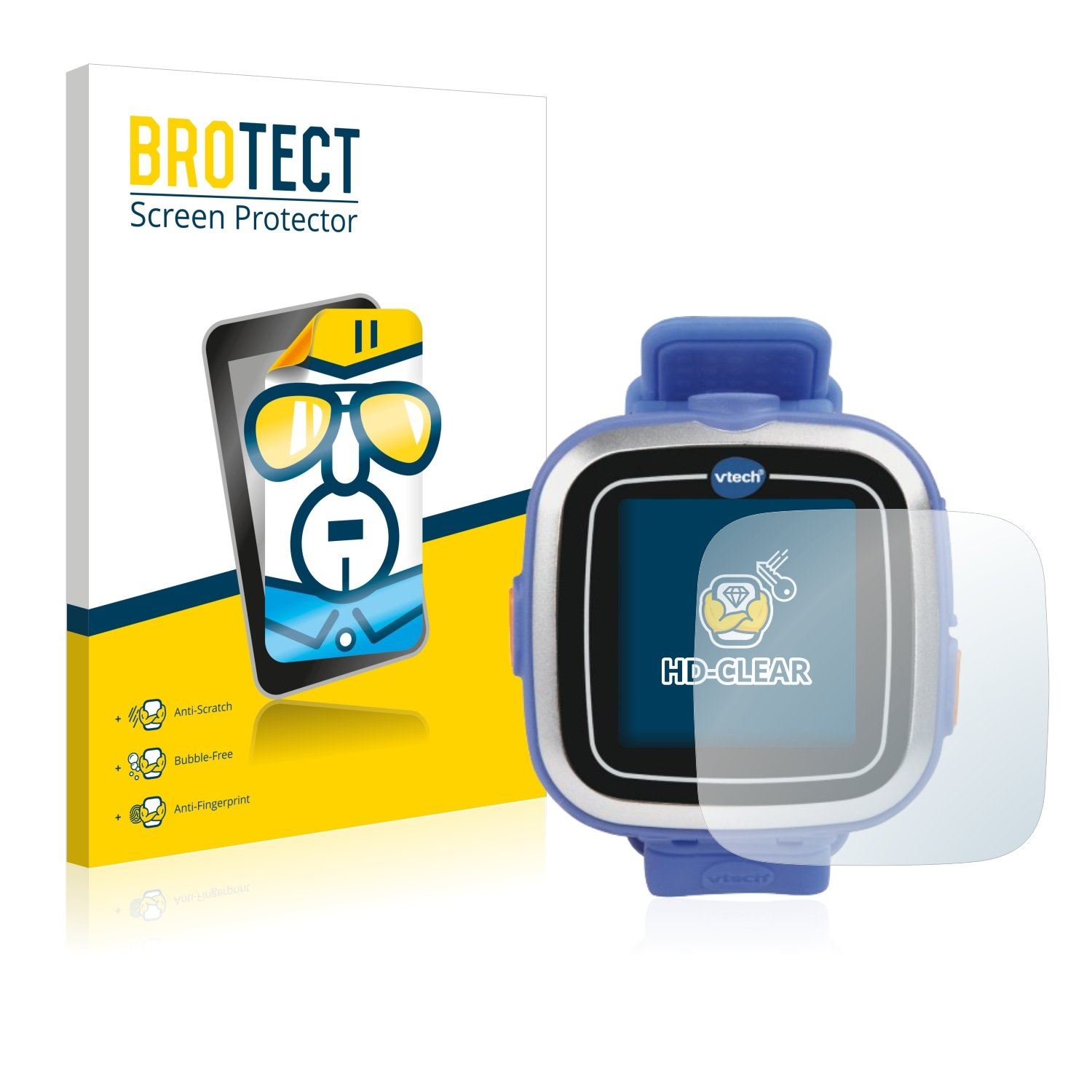 brotect Protector Pantalla Compatible con Vtech Kidizoom Smart Watch 1 Protector Transparente (2 Unidades) Anti-Huellas