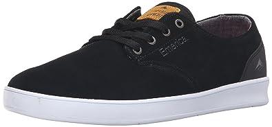 e2eaaeaf6a4 Emerica Men s The Romero Laced Skate Shoe Black White