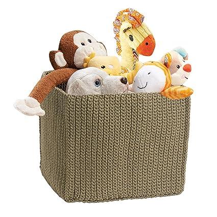 mDesign - Cubo tejido, organizador del armario del bebé/de la guardería; organiza