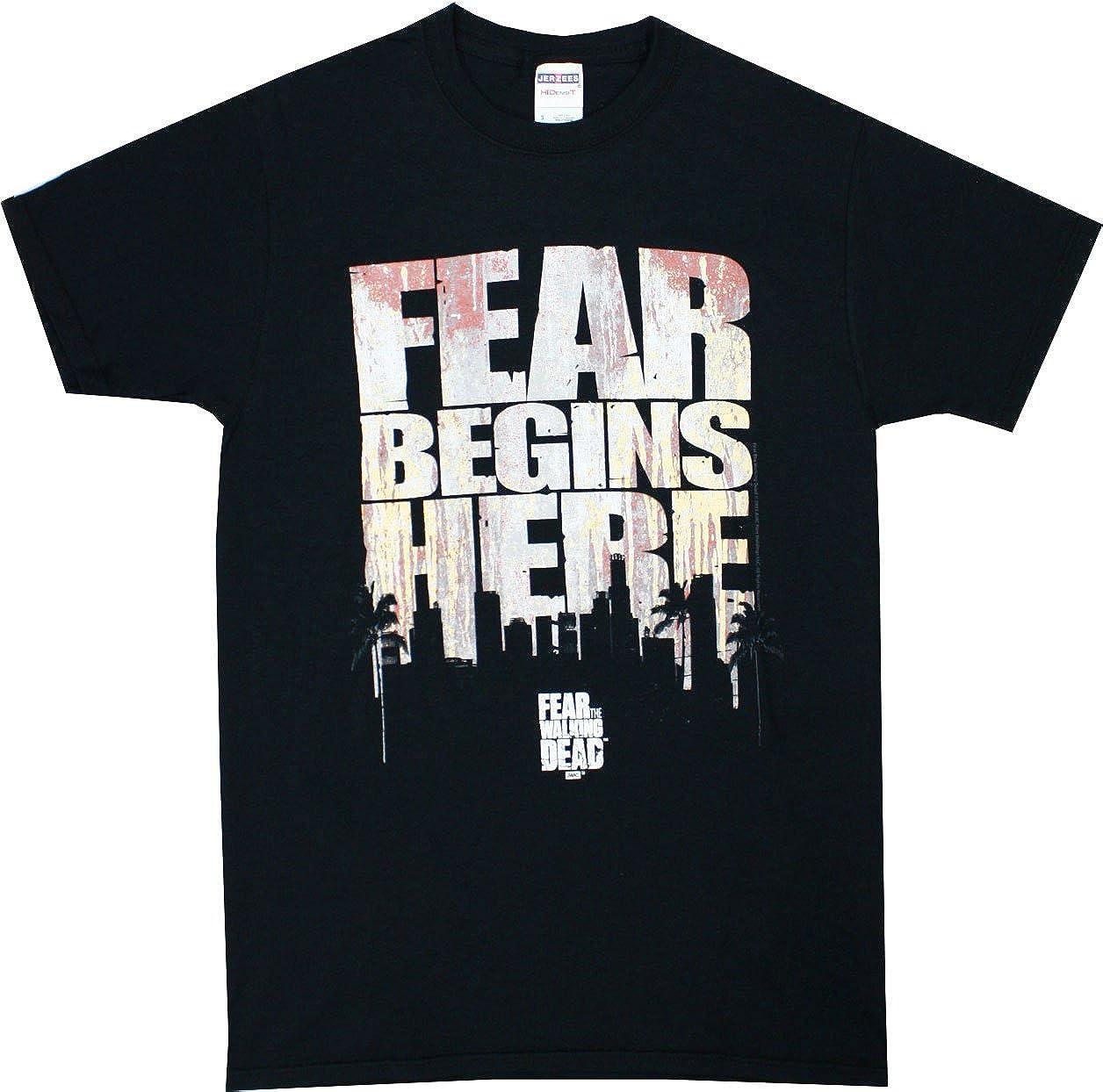 Changes Walking Dead R Begins Here S Black Shirt