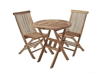 XXS® Balcón Grupo Romario 3 piezas 60 x 60 cm, mesa y 2 ...