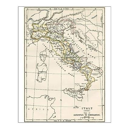 Amazon.com: Media Storehouse 10x8 Print of Regions of Italy ...