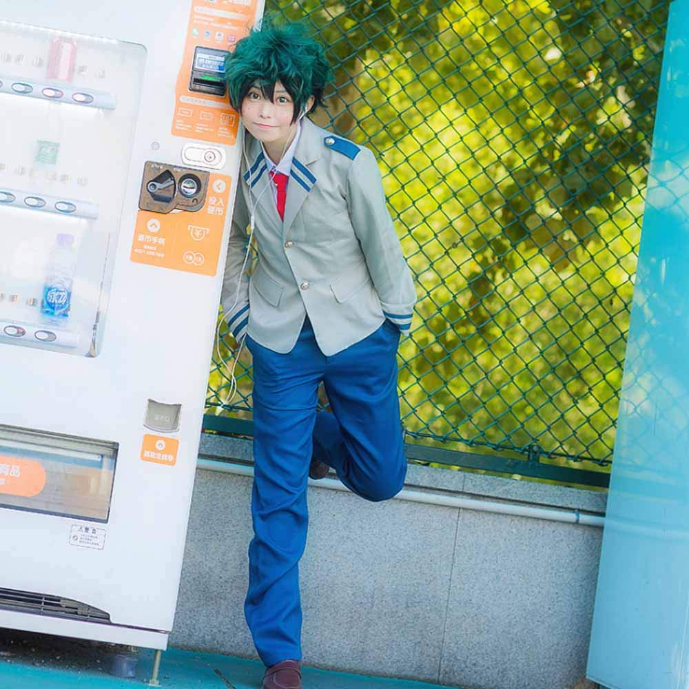Anime Cosplay My Hero Academia Ochaco Uraraka/Izuku Blazer Cosplay Costume School Girls Boys Uniform Costume (Pants Set, S/Waist 24.41'') by KINOMOTO (Image #8)