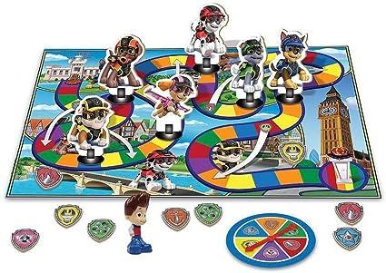 Amazon Com Paw Patrol Mission Paw Barkingburg Adventure Board Game Toys Games