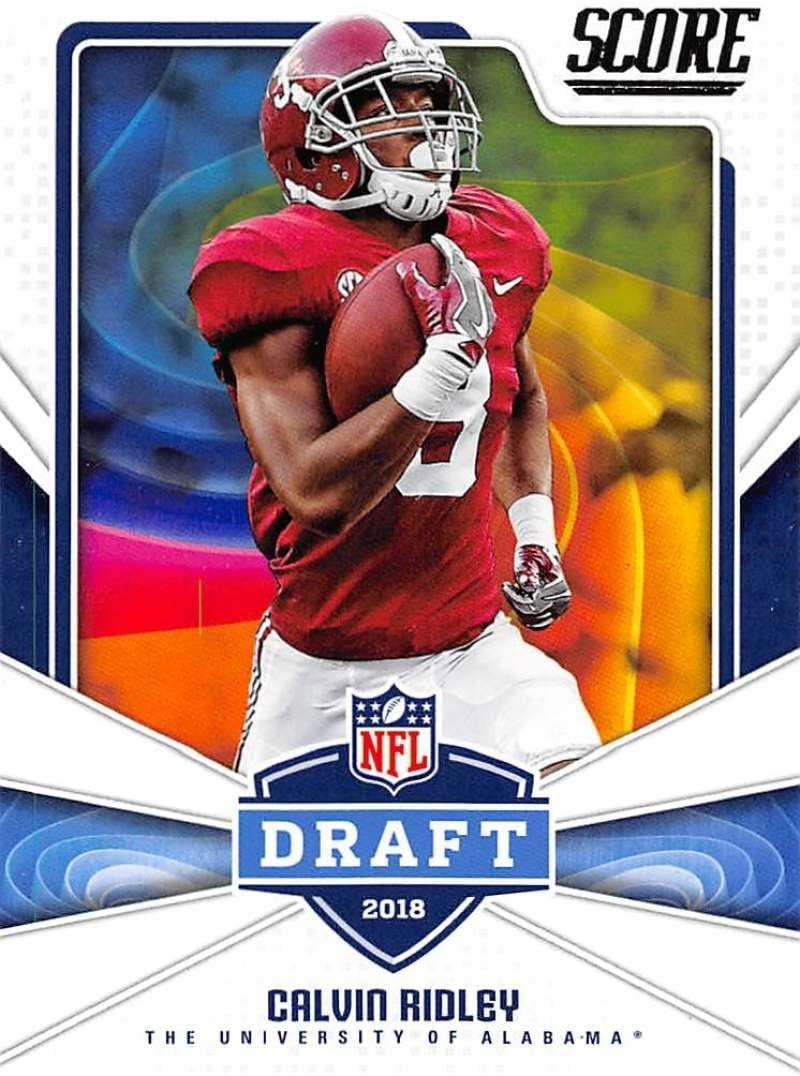 Amazon Com 2018 Score Nfl Draft 8 Calvin Ridley Alabama Crimson Tide Rookie Rc Football Card Collectibles Fine Art