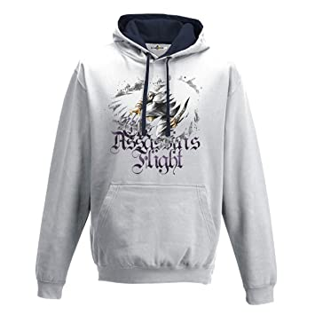 KiarenzaFD Sudadera Capucha Hombre Assassin S Flight Creed Warriors 2 Streetwear, Arctic White-