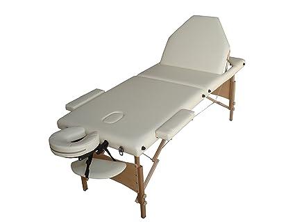 Mesa de masaje R3 W crema plegable portátil en madera 3 Plans estética depilatorio tatuaje Tattoo
