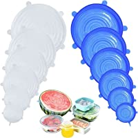 DigHealth Rekbaar siliconen deksel, 12-delige siliconen stretch deksel, BPA-vrij, herbruikbare siliconen afdekking…