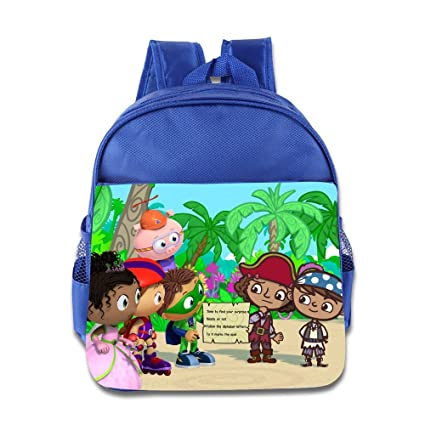 e0988b47ee58 Amazon.com  Kids Super Why School Backpack Cool Baby Boys Girls School Bag  RoyalBlue  Toys   Games