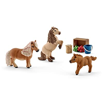 Schleich North America Miniature Shetland Pony Family Toy: Schleich: Toys & Games