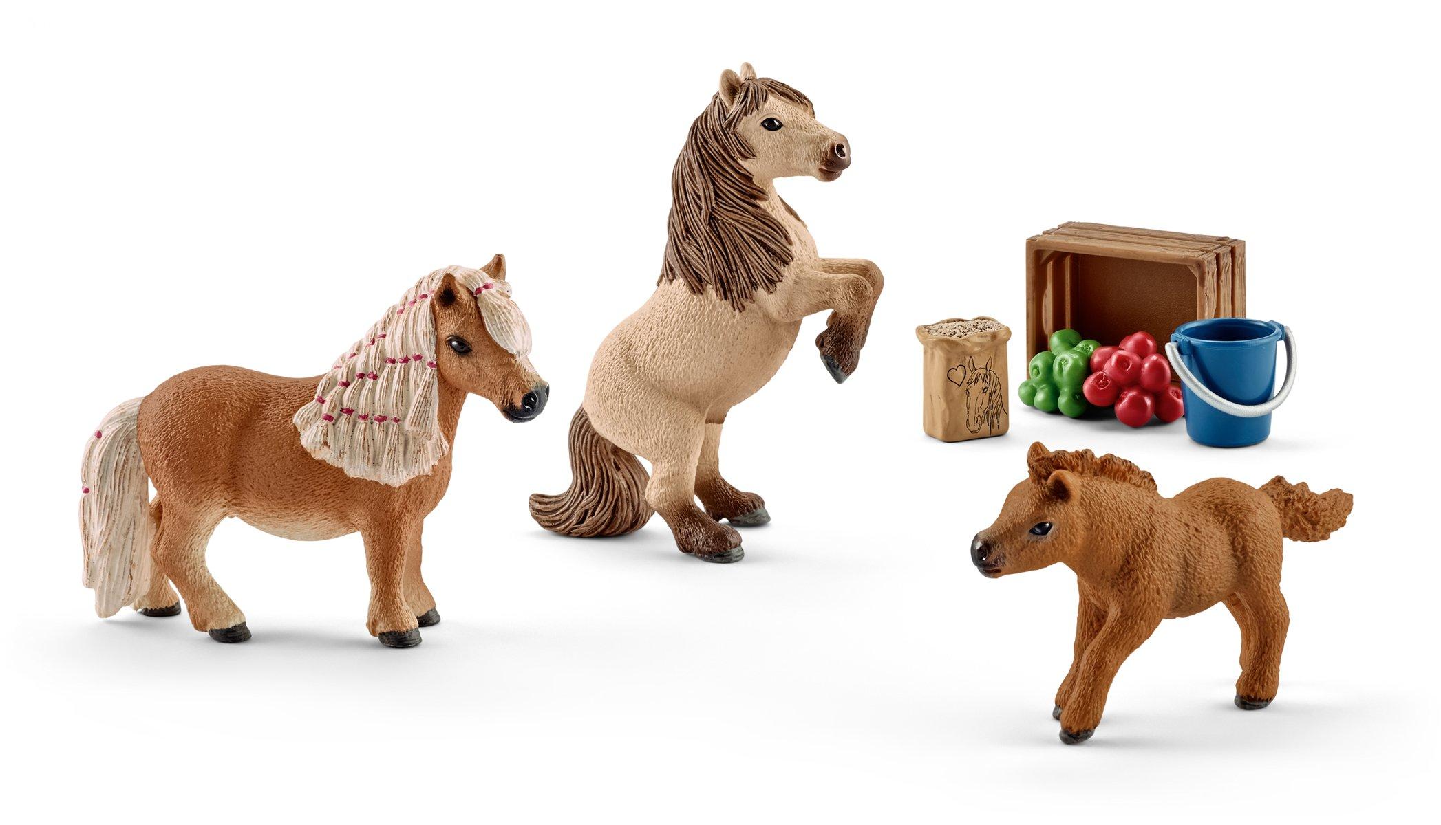 SCHLEICH 41432 Miniature Shetland Pony Family