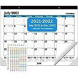 CRANBURY Large Desk Calendar 2021-2022 - (22x17, Blue) Use July 2021 to December 2022, Big Calendar, Deskpad Calendar 22 x 17