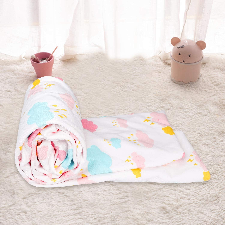 Flyish Wasserdicht Spannbettlaken F/ür Kinderbett 70 x 100 cm Laken aus Reiner Baumwolle f/ür Babymatratze