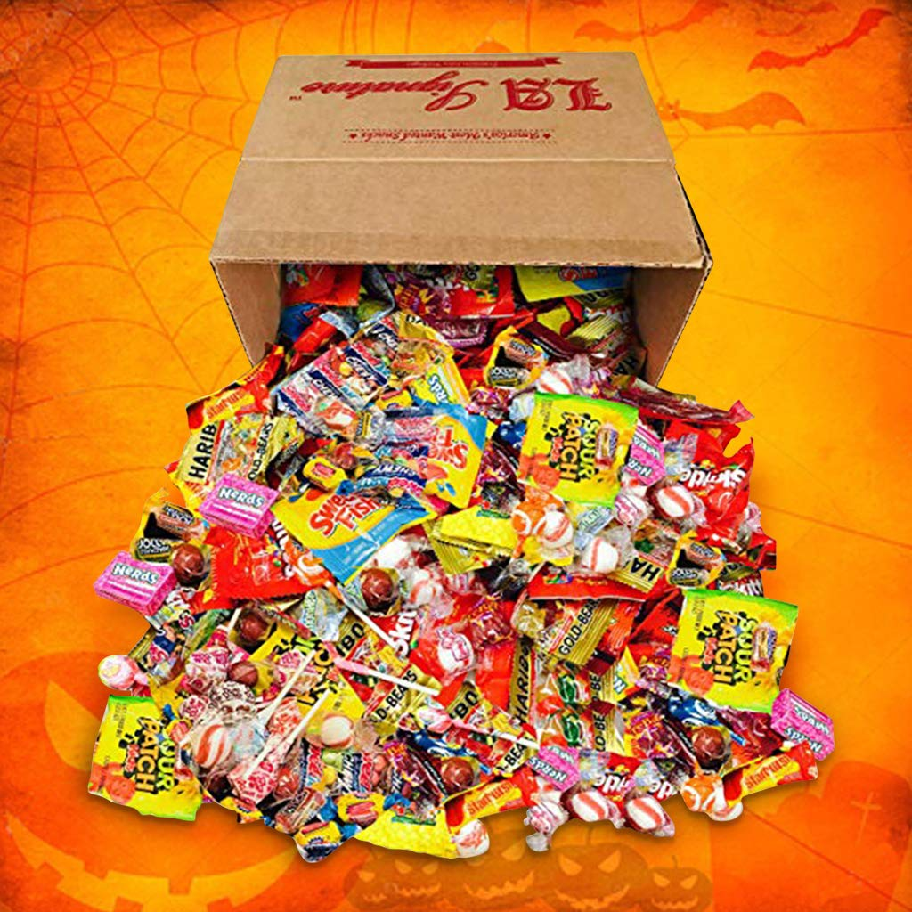 HUGE Assorted Candy PARTY MIX BOX 6.25 LBS/100 OZ Over 250 Individually Wrapped Candies like Skittles Lifesavers Haribo Starburst Fireballs Jolly Ranchers Sour Patch Dubble Bubble Swedish fish & MOR by LA Signature