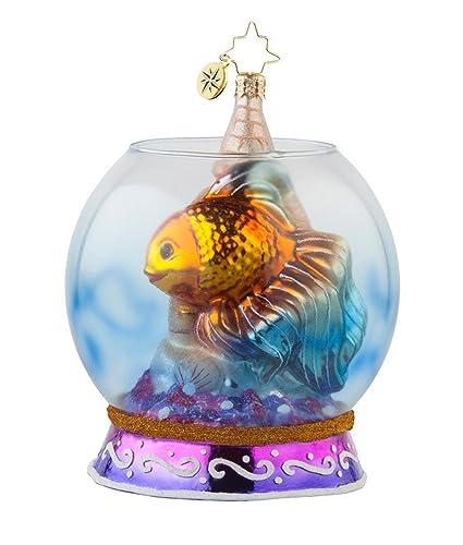 Christopher Radko cristal de peces para adorno de Navidad # 1017680