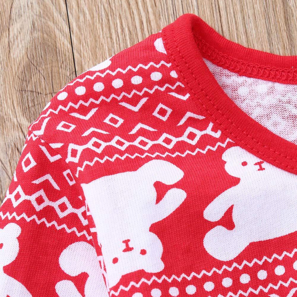 Pants Christmas Casual Pjs Outfits kaiCran 2PCS Toddler Baby Cute Pajamas Sets Long Sleeve Bear Print T-Shirt