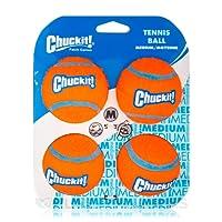 Chuckit 057404 Tennis Ball, 4 Pelotas para Perros Compatible con el Lanzador, M