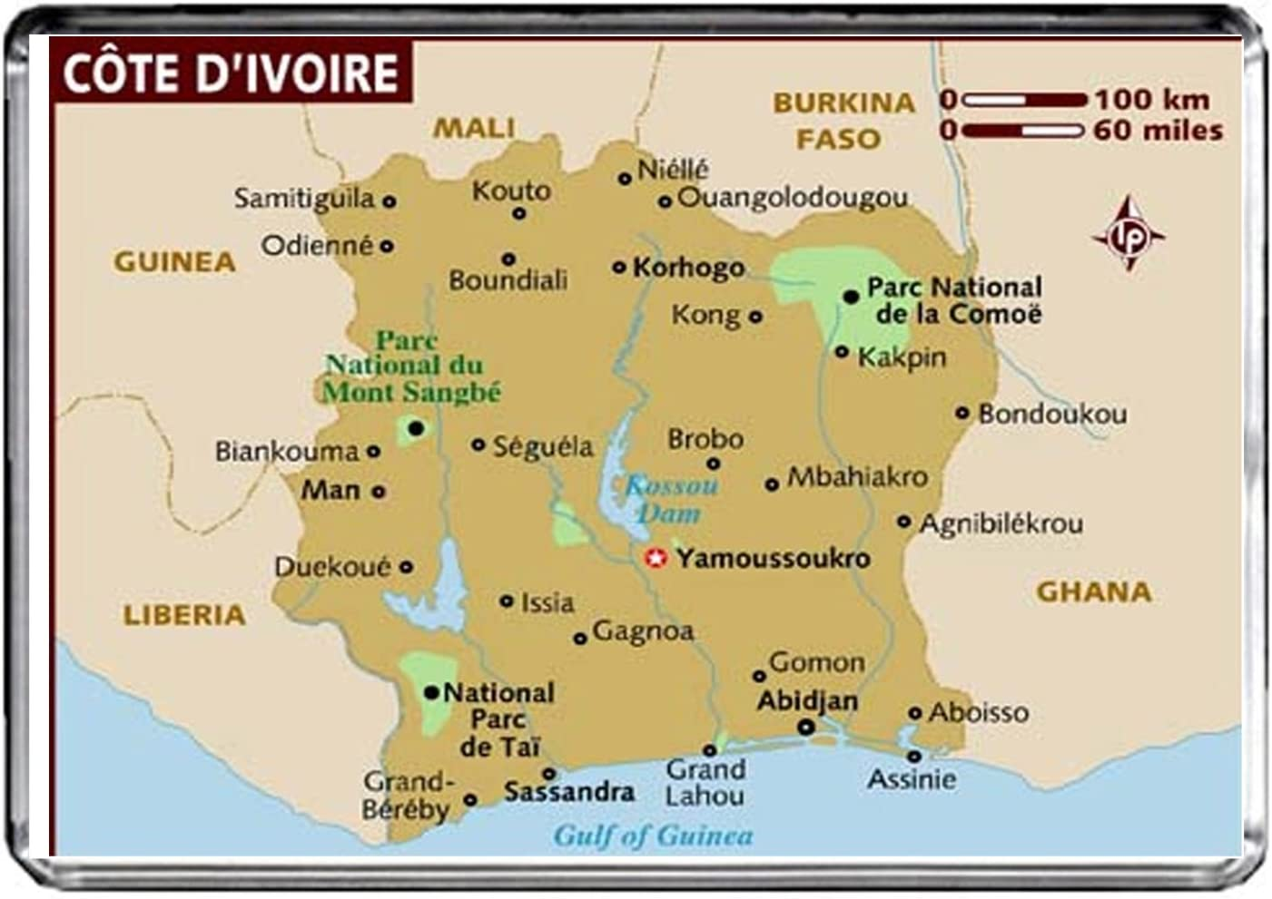 M049 Karte Von Cote D Ivoire Kuhlschrankmagnet Cote D Ivoire Reise Kuhlschrankmagnet Amazon De Kuche Haushalt