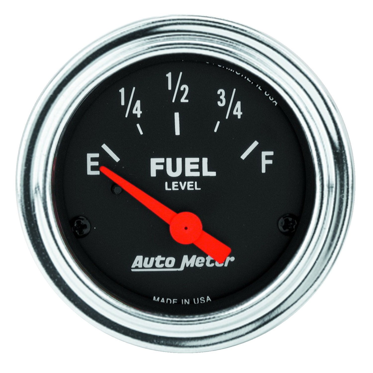 Auto Meter 2517 Traditional Chrome 2-1/16' Short Sweep Electric Fuel Level Gauge for GM