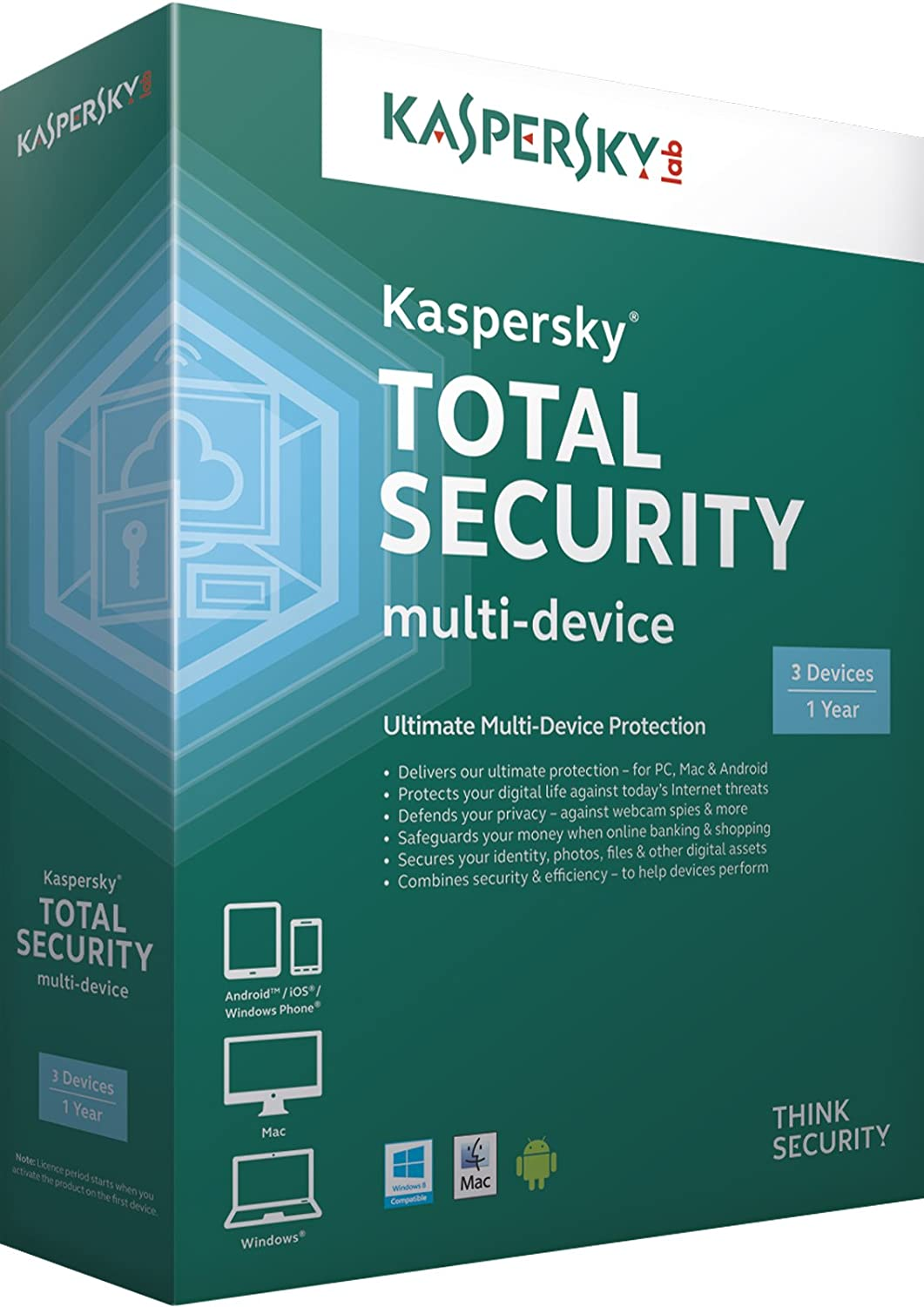 Kaspersky Total Security - multi-device 3 Users - 1 Year