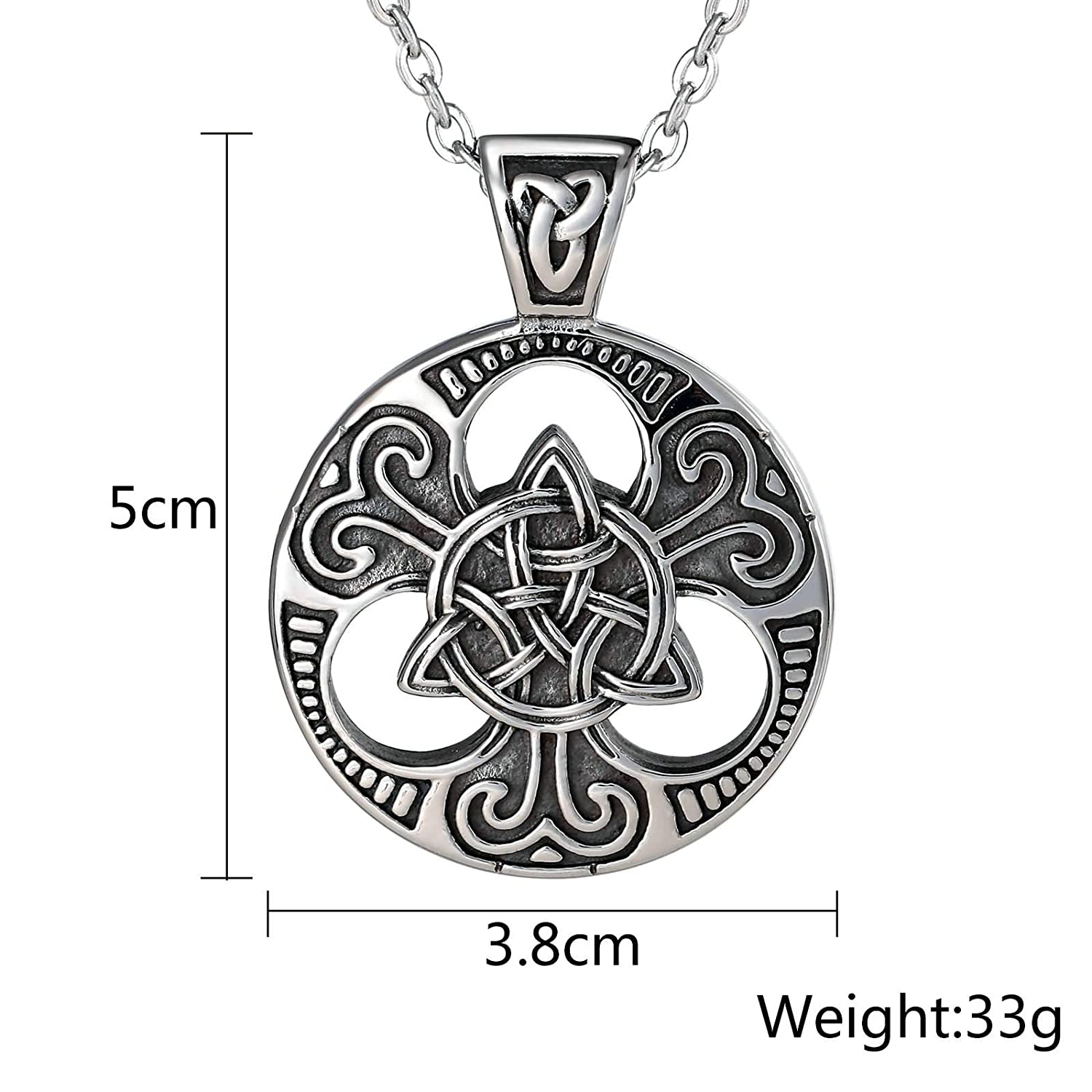 Bishilin Stainless Steel Pendant Necklace Hollow Woven Cross Flower Shaped Silver Necklace Personalized