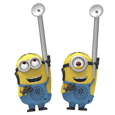 Minions from Despicable Me Eye-Conic FRS Long Range Static Free Easy to Use Durable Kid Friendly Dave and Stuart Character Walkie Talkies