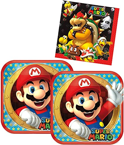 Pack of 8 amscan Super Mario Brothers Party Invitations Party Supply