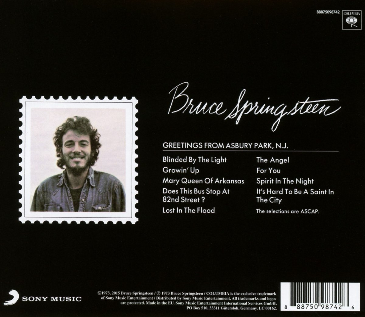 Bruce springsteen greetings from asbury park nj amazon music m4hsunfo