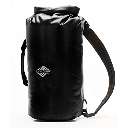 Aqua Quest Mariner Backpack - 100% Waterproof Lightweight Dry Bag - 10 Liter  - Black 451b8de1547a6