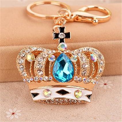 Corona Cristal Llaveros Llaveros Coche Mujer Bolso Bolso