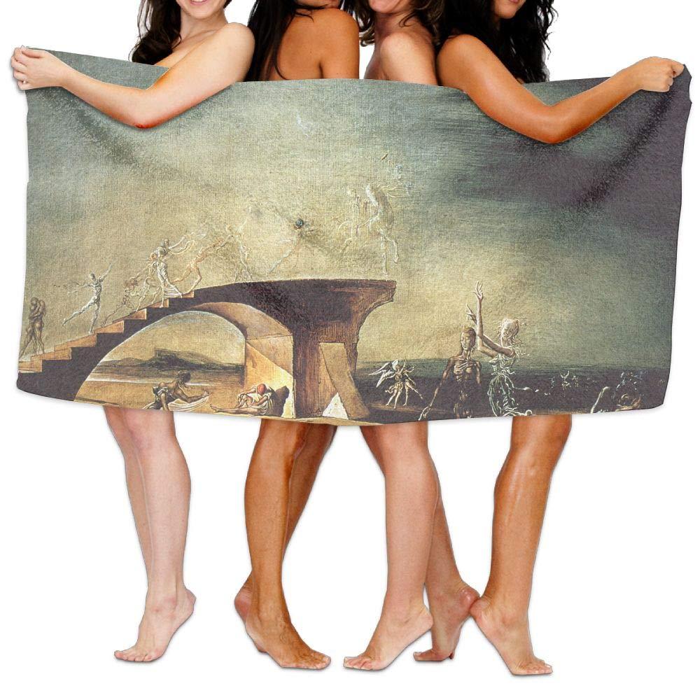 Jaylut 32 Inch51 Inch 3D Print Bath Towel Dance Stairs Soft High Water Absorption Wrap Washcloths