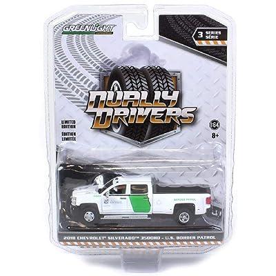 Greenlight 46030-B Dually Drivers Series 3-2020 Chevrolet Silverado 3500 Dually - U.S. Customs and Border Protection Border Patrol 1:64 Scale: Toys & Games