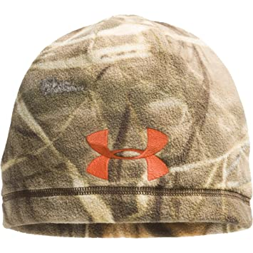 Under Armour Camo Outdoor Fleece Beanie in Realtree Max 4 41600fd2594