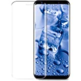 3D Full Coverage Samsung galaxy S8 Screen Protector, Infreecs  Galaxy S8 Tempered Glass Protector 9H Hardness Anti-Scratch Ultra Thin HD Display Protection Film for Samsung galaxy S8 (1 Pack) -Transparent