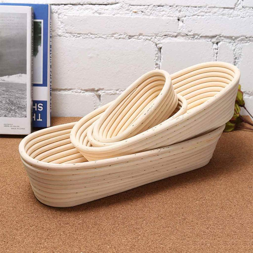zrshygs 5inch Round Banneton Brotform Cane Bowl Shape Bread Dough Proofing Proving Natural Rattan Basket With Removable Lining