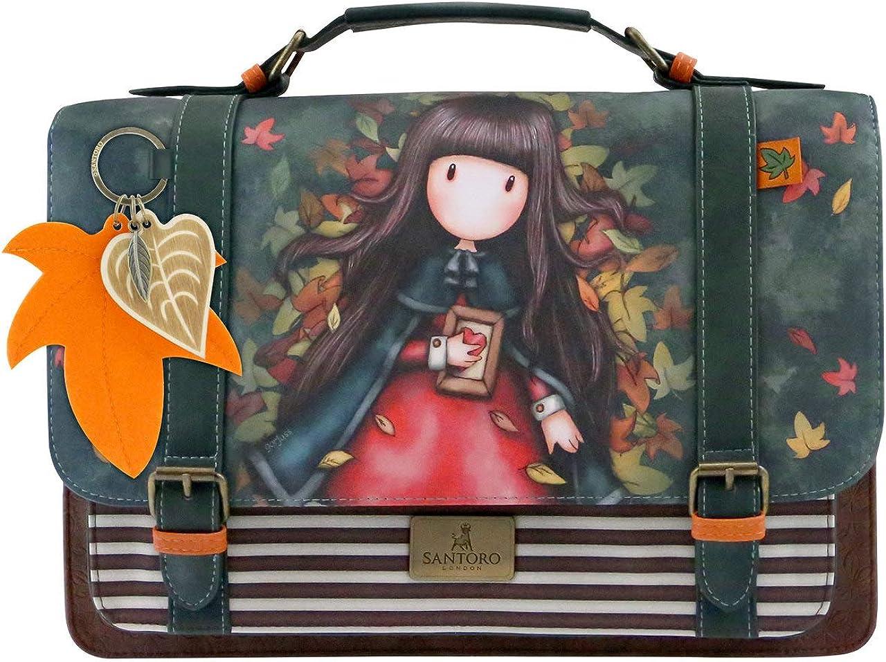 Santoro Gorjuss 1025GJ01 Vert Satchel Grande Autumn Leaves Bag Femme