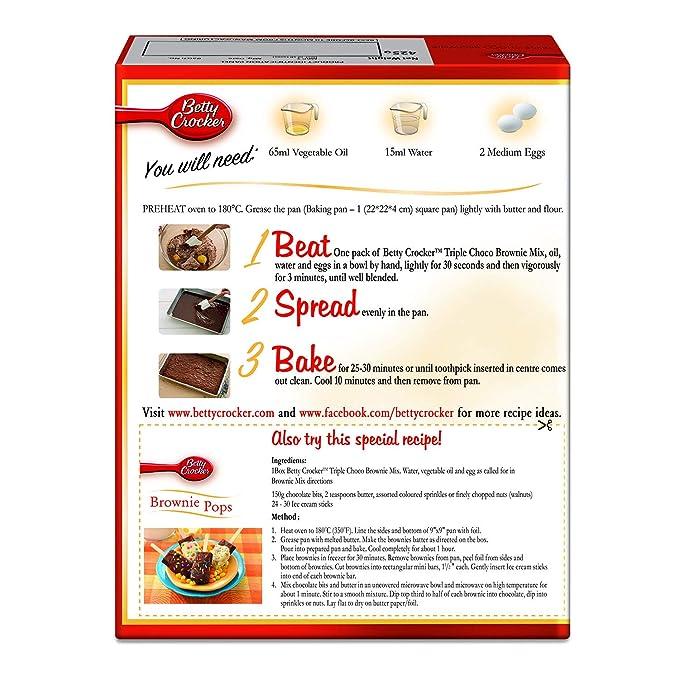 Betty Crocker Brownies Recipe On Box